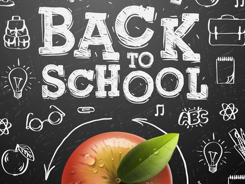 Back to school background graphics vector 04